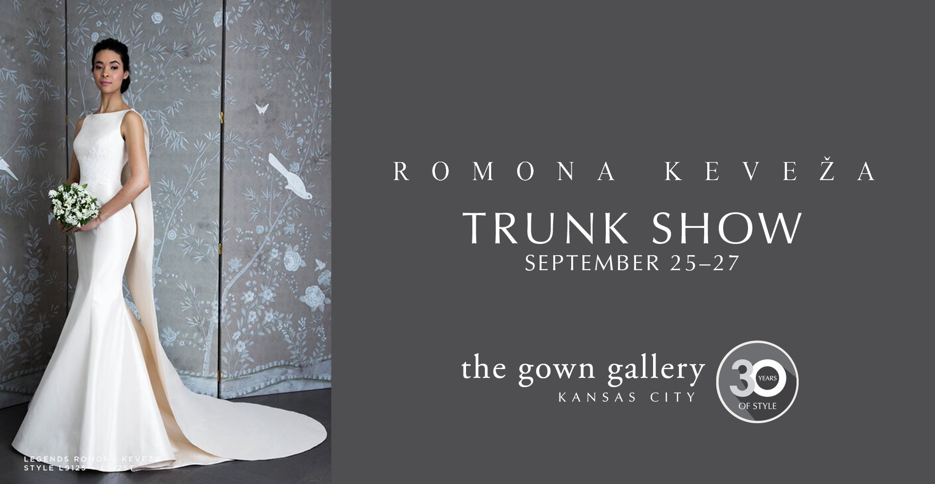 Romona Keveza Trunk Show September 25-27. Desktop Image